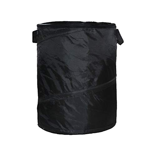 DEXING Pop-Up Car Trash Bin Hump Garbage Bag Foldable Vehicle Trash Can Litter Storage Collection for Camping, 16.64 Gallon Capacity Black