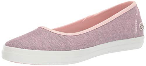 Lacoste Women's Ziane Sneaker, pink/off white, 10 Medium US