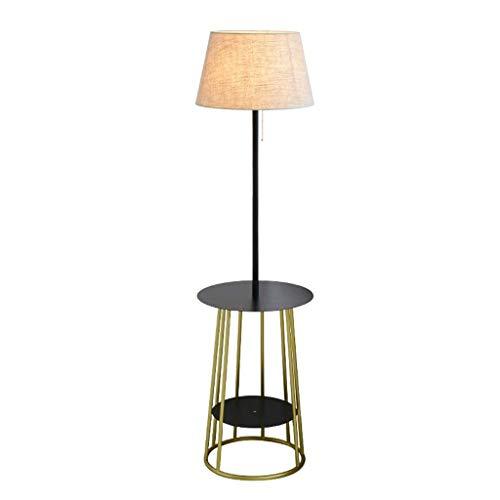 LY88 lichte woonkamer slaapkamer plank vloer lamp eenvoudige moderne hoge paal linnen lampenkap lezen staande lamp 0715P kleur : wit+Beige