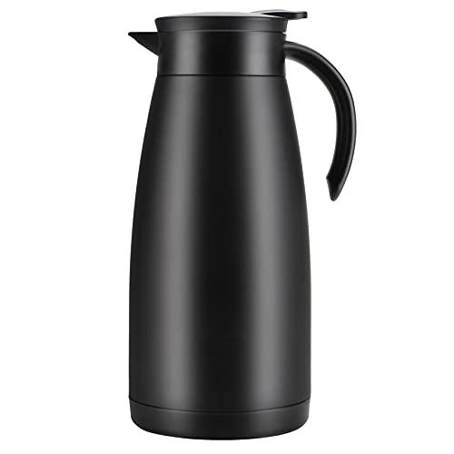 Olerd Jarra térmica de café de acero inoxidable de 55 onzas, frasco de doble pared, retención de calor de 12 horas, dispensador de té, agua y café de 1,5 litros