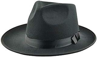 قبعة مخصصة للرجال بتصميم قبعات كبيرة الحجم فينتاج وموسيقى الجاز الكلاسيكية التي تتناسب مع الأداء المسرحي