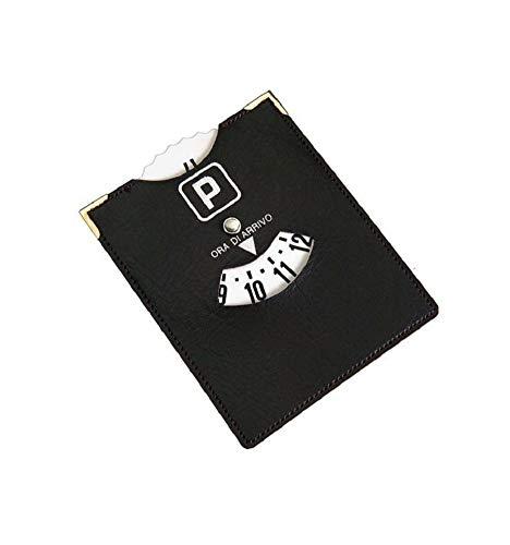 Ducomi parkeerschijf met sticker voor voorruit en dashboard van transparante kunststof. Disco Orario Similpelle
