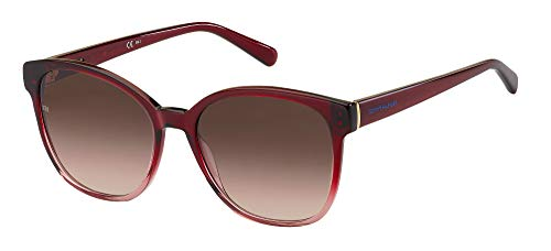 Tommy Hilfiger Gafas de Sol TH 1811/S Red/Brown Shaded 55/17/140 mujer