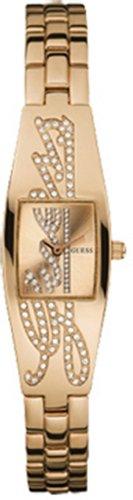 Guess Women's Petite Autograph W12629L1 goud roestvrij staal Quartz horloge met gouden wijzerplaat