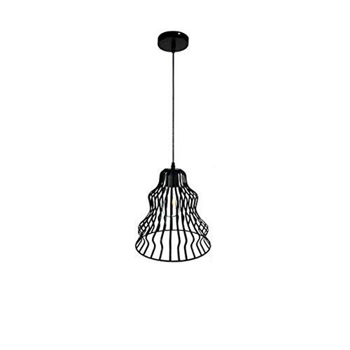 pzcvo Lamparas Colgantes Lampara Techo Comedor Colgante Accesorios de iluminación para techos Negro Luz La luz de la Cocina la Sombra 2