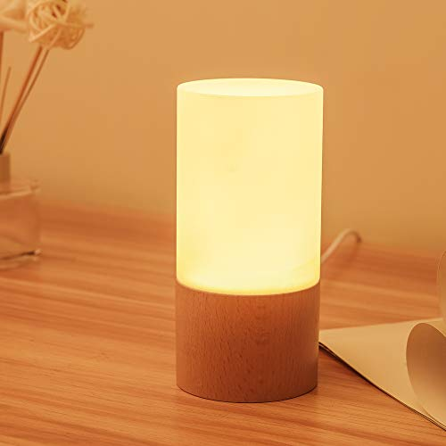 LED Bedside Table & Desk Lamp Soft White Lamps for Bedrooms Home Office Décor Living Room Hallways Nursery Kitchen Basement,3000K Warm White, Relaxing Lighting GIF