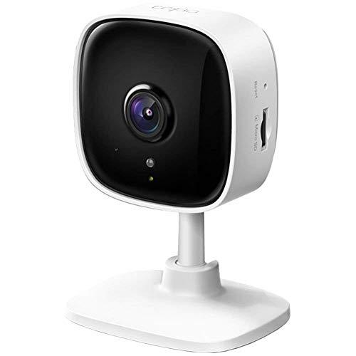 TP-Link Tapo Caméra Surveillance WiFi, Tapo camera IP 1080P avec Vision Nocturne, Détection de Mouvement, Alarme sonore et lumineuse, Caméra Bébé avec Audio Bidirectionnel (Tapo C100)