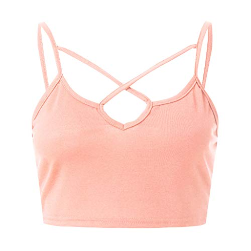 YCQUE Frauen 2026 Sommer Täglich Mode Sexy Feste Kreuz Sling Tank Top Kleidung Tank Sleeveless Crop Top BH Backless Weste Kurze Tank Kleidung Mini Bluse