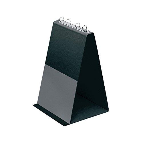 Veloflex 4102080 Tisch-Flipchart A4, Präsentation, Flipchart, Aufstellringbuch, aus PVC, Hochformat, schwarz