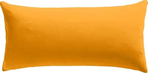 REDBEST Kissenbezug Single- Jersey San Francisco Mandarine Größe 40x80 cm- weiche Qualität, bügelfrei, praktischer Reißverschluss, 100% Baumwolle (weitere Farben)