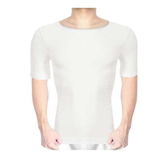 Camiseta de compresión de manga corta para hombre y chaleco adelgazante en forma de cuerpo Medias de desgaste Tank Tops Deportes Sudor Tee Undershirt