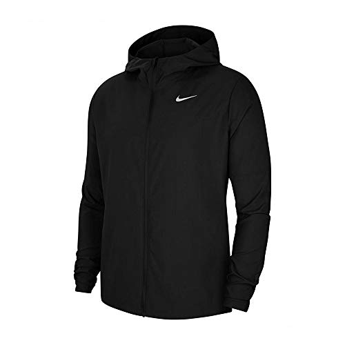 Nike M NK Run Jkt, Cappotto Uomo, Black/Black/Reflective Silv, L