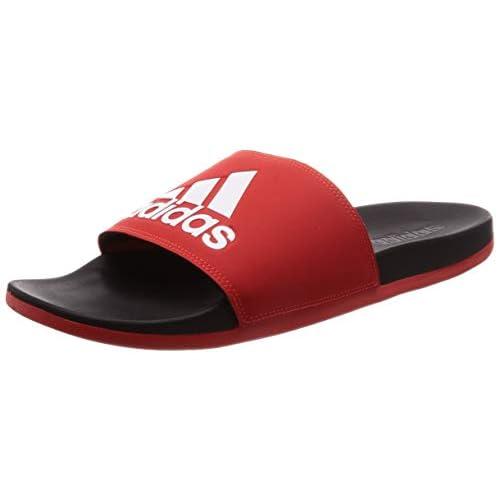 adidas Adilette Comfort, Scarpe da Spiaggia e Piscina Bambino, Multicolore (Rojact/Ftwbla/Negbás 000), 38 EU