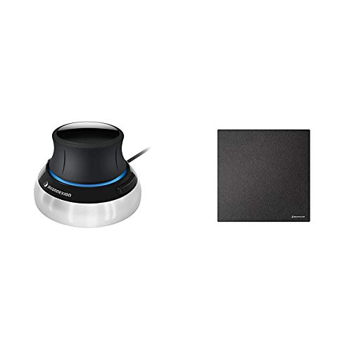 3Dconnexion SpaceMouse Compact (3D-Maus, kabelgebunden) & CadMouse Pad Compact (Mauspad, schwarz)