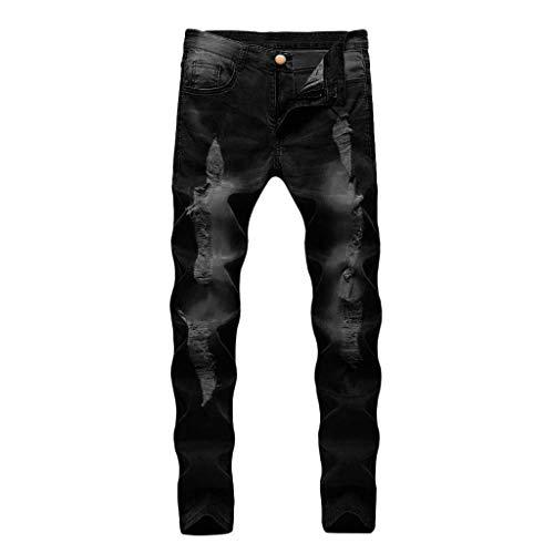 DressLksnf Pantaloni eans Strappati Uomo Jeans Skinny Slim Fit Ragazzo Pantalone Casual Pantaloni Lunghi Primavera Autunno Zoccoli e Sabot