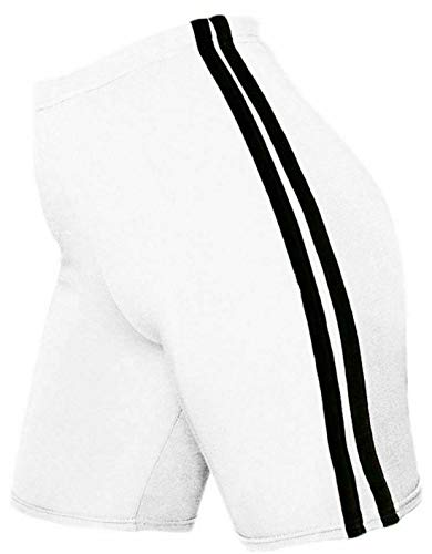 RIDDLED MET STYLE Dames Zijstreep Fietsen Shorts Womens Elastische broek