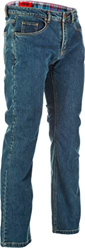 Fly Racing Resistance Heavy Weight Mens Motorcycle Jeans - Oxford Blue - 36
