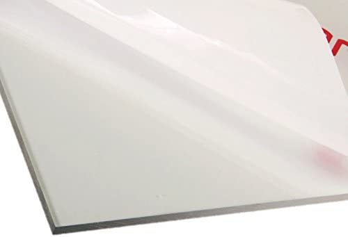"""Polycarbonate Clear Plastic Sheet 12"""" X 18"""" X 0.0625"""" (1/16""""), Shatter Resistant, Easier to Cut, Bend, Mold than Plex..."""