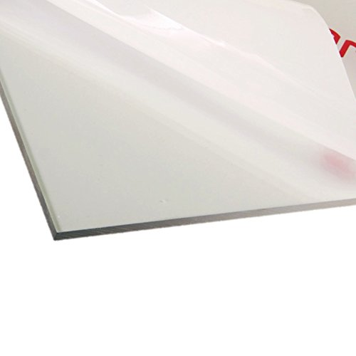 Polycarbonate Clear Plastic Sheet 12' X 18' X 0.0625' (1/16'), Shatter Resistant, Easier to Cut, Bend, Mold than Plexiglass. For VEX Robots, Hobby, DIY, Industrial, Crafts. Plexiglas Glass Replacement