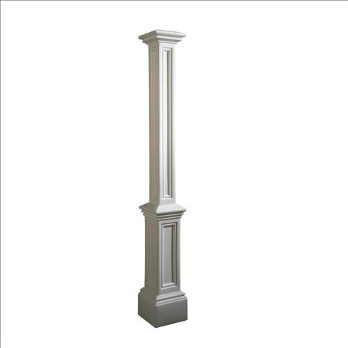 Mayne 5837-WH Signature Outdoor Lamp Post, 9.5x9.5, White