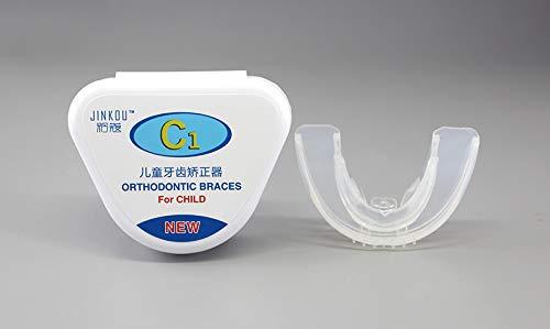 ZZKK Los aparatos ortopédicos de ortodoncia para niños Cubren el día para Evitar Que Las Caries nocturnas se dividan en Dos etapas, de 7 a 12 años de Edad