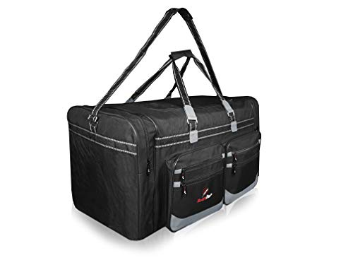 Roamlite Extra Large XXL Holdall - Very Big X-L Duffle Bags for Travel, Storage or Laundry - Polyester 74 cm 29 Inch X38cm X36cm 100 Litres Black RL4K