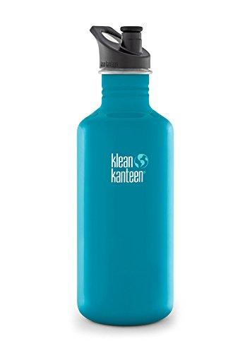Klean Kanteen Edelstahlflasche Flasche Classic Sports Cap, Frasco, Azul (Channel Island), 0.532 Litros
