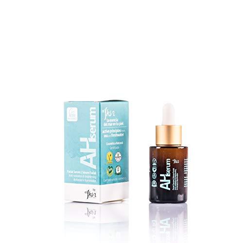 Alskin Sérum AH pour le visage raffermissant et anti-rides Cosmétique naturelle Écologique Sérum avec acide hyaluronique Convient pour tous les types