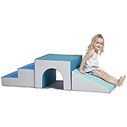 commercial ECR4Kids – ELR-12717F-CT 1 Tunnel SoftZone Foam Lift, Freestanding Indoor Action… soft toddler climbers