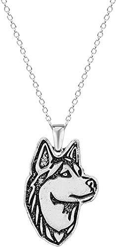 BEISUOSIBYW Co.,Ltd Collar Regalos Moda Collar Hecho a Mano Husky Siberiano Perro...