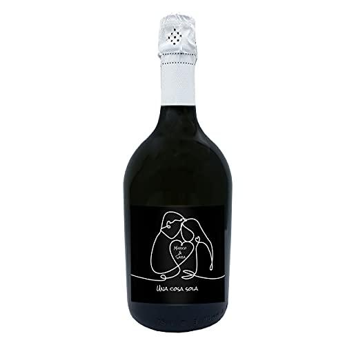 Idea regalo spumante Prosecco DOC, bottiglia personalizzata originale per San Valentino, bomboniere,...