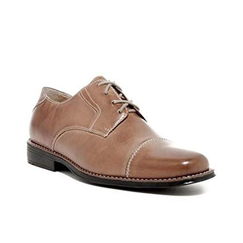 Sandro Moscoloni Men's Bruno Cap Toe Derby - Wide Width Available… Tan