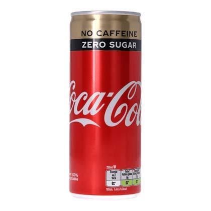 Coca Cola No Caffeine Zero Sugar (24 x 0,25 Liter Dosen NL) Koffeinfrei - inkl. gratis Five Star Kugelschreiber