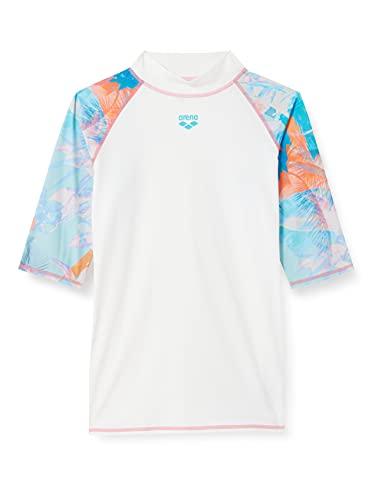 ARENA Damen Sonnenschutz Shirt Rash Allover W Vest S/S, White-Asphalt Multi, L