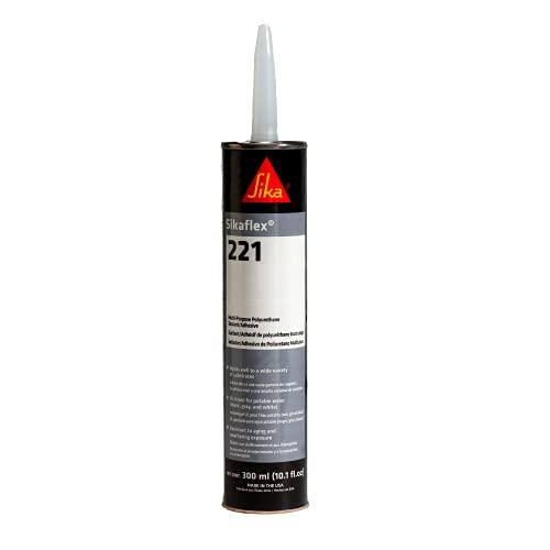 Sikaflex-221, White, multi-purpose sealant/adhesive, polyurethane fast curing sealant, 10.1 fl. oz Cartridge
