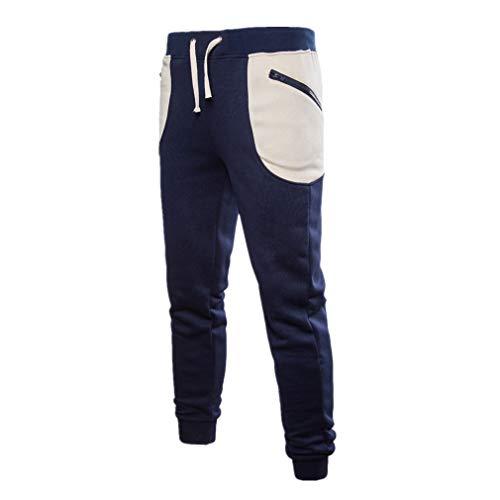 ZODOF Pañuelo de Bolsillo Grande con Pantalones Pantalones de chándal de Color Puro para Hombre Pantalones de pantalón Casual de Trabajo Deportivo Casual de Bolsillo
