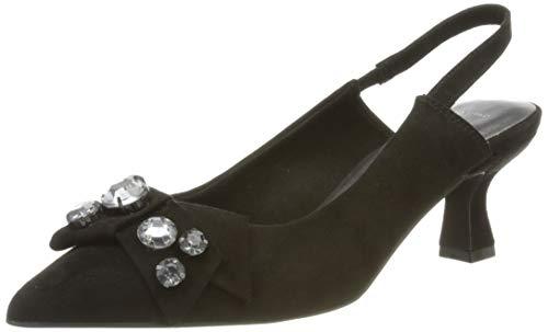 MARCO TOZZI 2-2-29600-26 Damen Sling Pumps, Sandalia con taln Mujer, Peine Negro, 40 EU