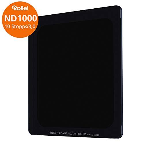 Rollei Filter F:X Pro ND 1000 Filter I Graufilter 100mm aus Gorilla-Glas mit Luminance Coating I Ideal für Langzeitbelichtungen am Tag