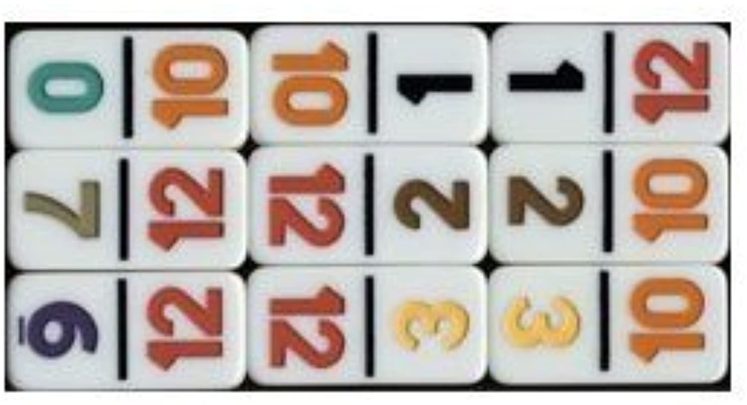Double Twelve Numerical Dominoes Game by CHH