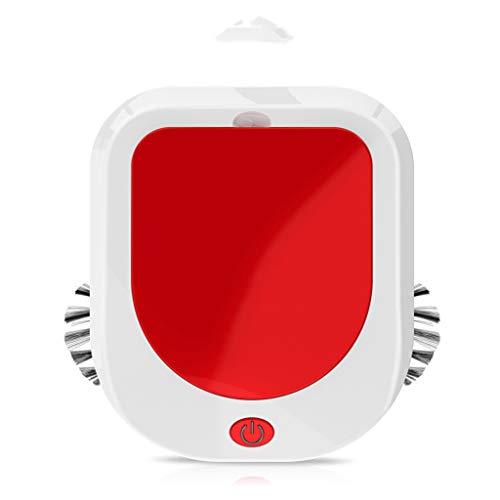 LHY Kitchen Roboter-Staubsauger, Automatische, intelligenter Haushalt Desinfektion Kehrmaschine Große Saug geräusch- und Stromverbrauch,Rot