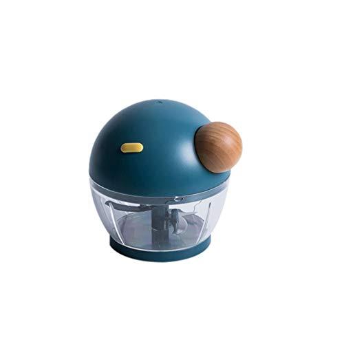 N / A Fleischwolf,Mini Food Chopper Edelstahl Küchenmaschine Für Babynahrung,Fleisch,Gemüse,Obst Und Nüsse Blau