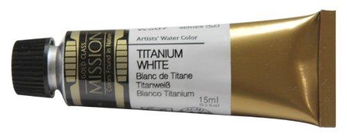 Mijello Mission Gold Class Water Color, 15ml, Titan White Opaque