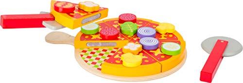 Small Foot 11063 Schneide Set aus Holz, mit Klettverschlussfunktion Spielzeug, Mehrfarbig