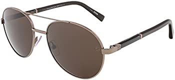 Ermenegildo Zegna Men's Brown Aviator Sunglasses