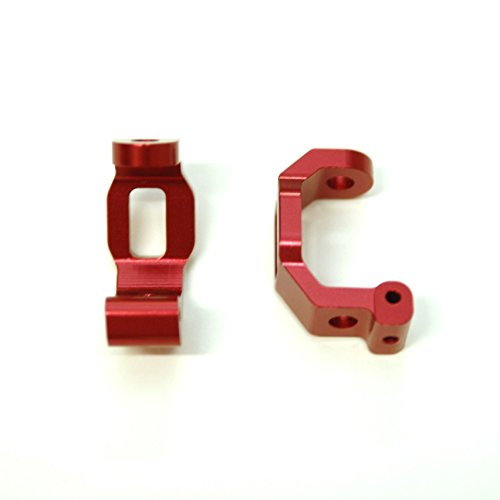 ST Racing Concepts ST8332R CNC Machined Aluminum Front C-Hub (Pair) for Traxxas 4Tec 2.0, Red