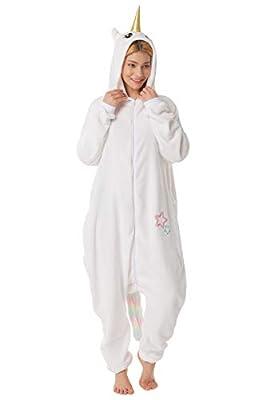 corimori- MIA El Unicornio Pijamas Animal Traje de Una Pieza Disfraz Adultos Invierno, Color blanco, Talla 180-190 cm (1852) , color/modelo surtido