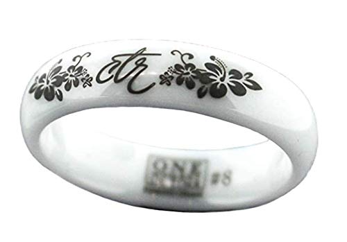 One Moment In Time J128 Sizes 8 Heavenly Flower White Diamond Ceramic Choose The Right CTR Ring Mormon LDS Women's