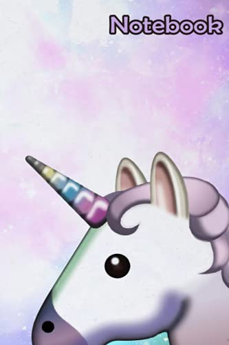 Galaxy Unicorn Pattern Tumblr Notebook: - 110 Pages, In Lines, 6 x 9 Inches