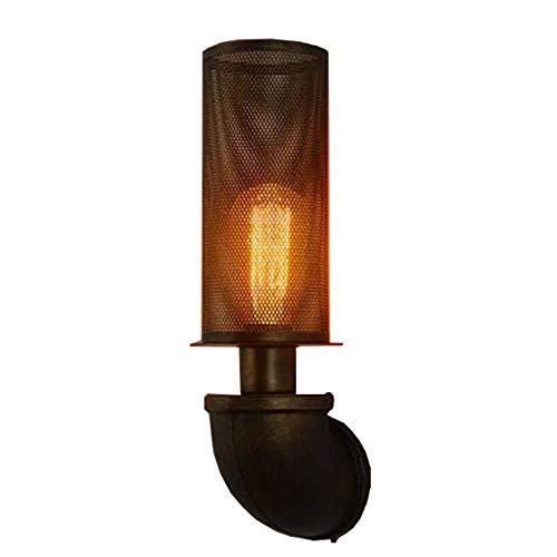 Lámpara De Pared Industrial De La Fontanería Luz Retra del Restaurante Lámpara De Pasillo Creativa del Pasillo Personalidad Malla Metálica De La Malla del Arte del Alambre