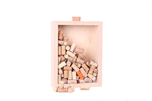 Doktorvolt 3D Bilderrahmen Objektrahmen tief zum Befüllen 25,1x33,8x9 cm Holz A4 Dekorativer Holzrahmen für Wände Sparbüchse Handmade Echt Holz 1998
